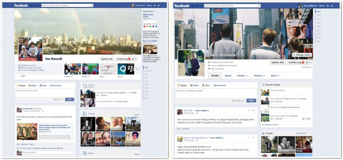 fb compared Timelines