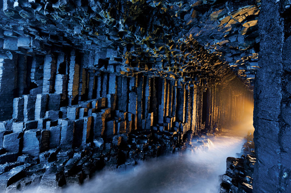 Fingal's Cave, Scotland. (Image Source: Photo District News)