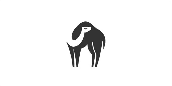 Camel-Negative-Space-Logo-Design-Example