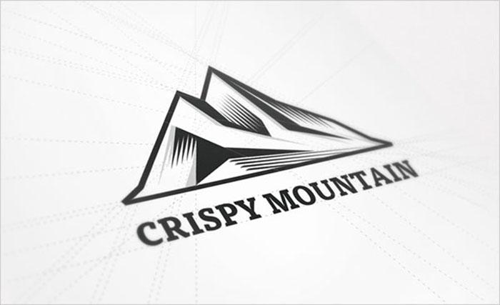Crispy-Mountain-Linocut-Logo-Design